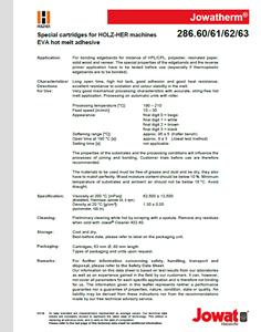 Adhesivo Hot Melt EVA 286.60/61/62/63